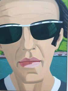 Self-Portrait with Sunglasses (Not me, Alex Katz, 1969)