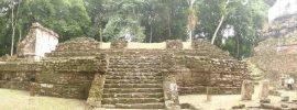 Ruins at the Mayan site of Yaxha