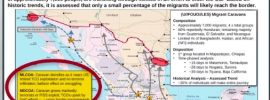 Military Map and notes on Caravan's approach from Mexico