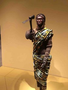 African warrior with axe