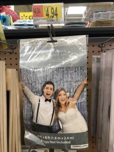 Glitter photo backdrop on sale at War Mart