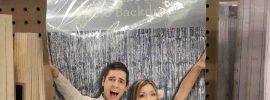Glitter photo backdrop on sale at War Mart